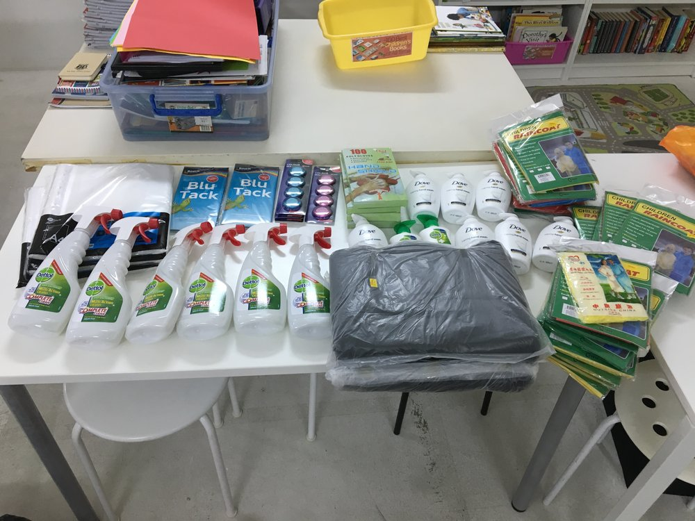 We were visited by a PSLE student, Alex, and his mother who dropped by with some awesome donations-in-kind that he had collected as part of his scouts program.
