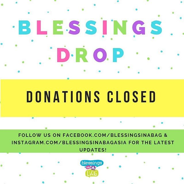 We are closed for donations-in-kind at the moment as we have received a generous amount and space is limited.  We are grateful 💕 . . . We update our website, Instagram and Facebook when we do have a donation drive running so do keep a 👀 out in future! . . . Thank you for thinking of us and for your kind understanding!  We really appreciate those of you who do not see us as a dumping ground during #springcleaning season 🤗😍 . . . Our #JumbleSale store will remain open in the coming months so you can continue to support us through this initiative.  Our next one takes place Saturday: 9:30AM to 5PM! . . . . 👩🏻‍💻www.blessingsinabag.co ✏️ www.instagram.com/blessingsinabagasia 🐥 www.twitter.com/blessingsinabag