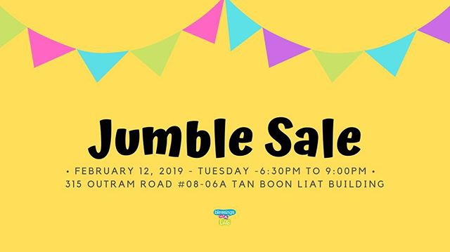 See you tomorrow for our #JumbleSale 6:30PM to 9:00PM!  Brand new and like new books, toys, children's items, school supplies and lots more starting from $1 and up! Tag a friend below to let them know 👇⠀ ⠀ 👩🏻‍💻www.blessingsinabag.co⠀ ✏️ blessingsinabag@gmail.com⠀ 🐥 www.twitter.com/blessingsinabag⠀ 📖 www.facebook.com/blessingsinabag