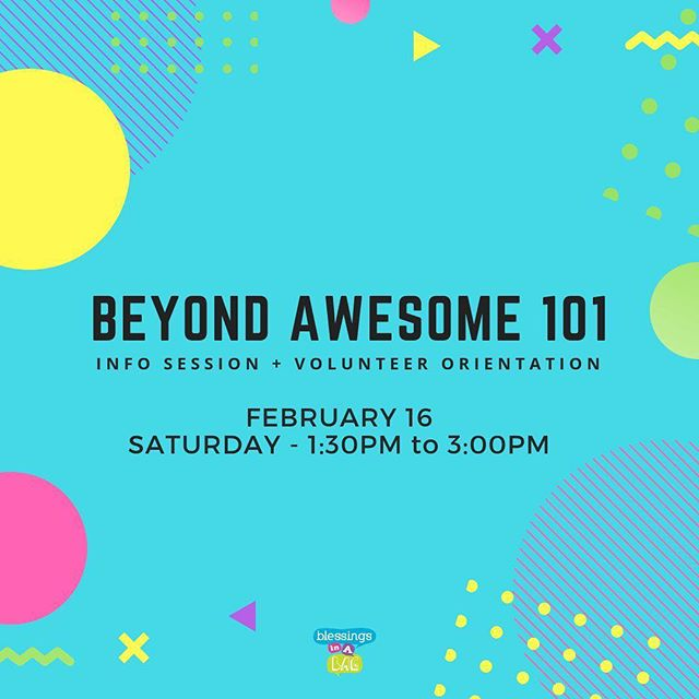 We're looking forward to opening our doors and welcoming you this Saturday for #BeyondAwesome101, it's an opportunity to learn more about what we do, see how you can get involved or simply get a behind-the-scenes peek at what goes on in our space. 🤓👀⠀ ⠀ We start 1:30PM and wrap by 3PM** and everyone's invited.⠀ ⠀ **For volunteers who are interested to commit to our Beyond Awesome program, you will have the option of staying on to #ExperienceTheRoom with us through till 5PM together with the rest of our community (kids + #worldchangeagents) at an actual session that we have running.⠀ ⠀ Check out the details by clicking the link in our bio! ⠀ ⠀ If you have questions, please leave us a message below! 👇⠀ ⠀ 👩‍💻http://www.blessingsinabag.co⠀ 💌blessingsinabag [at] gmail [dot] com⠀ 🐥http://www.twitter.com/blessingsinabag⠀ 📣http://www.facebook.com/blessingsinabag