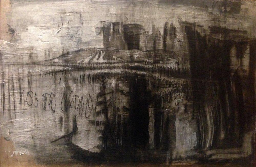 Untitled Desert Varnish and Mountain, 2018, $500