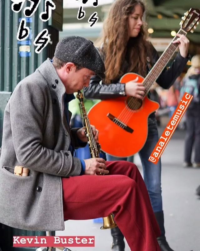I went busking for the first time yesterday at Pike's market! Thanks to @pikeplacepublicmarket for the photo!