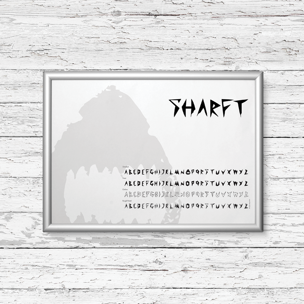 SHARFT   [TYPEFACE DESIGN / ECO CAMPAIGN}