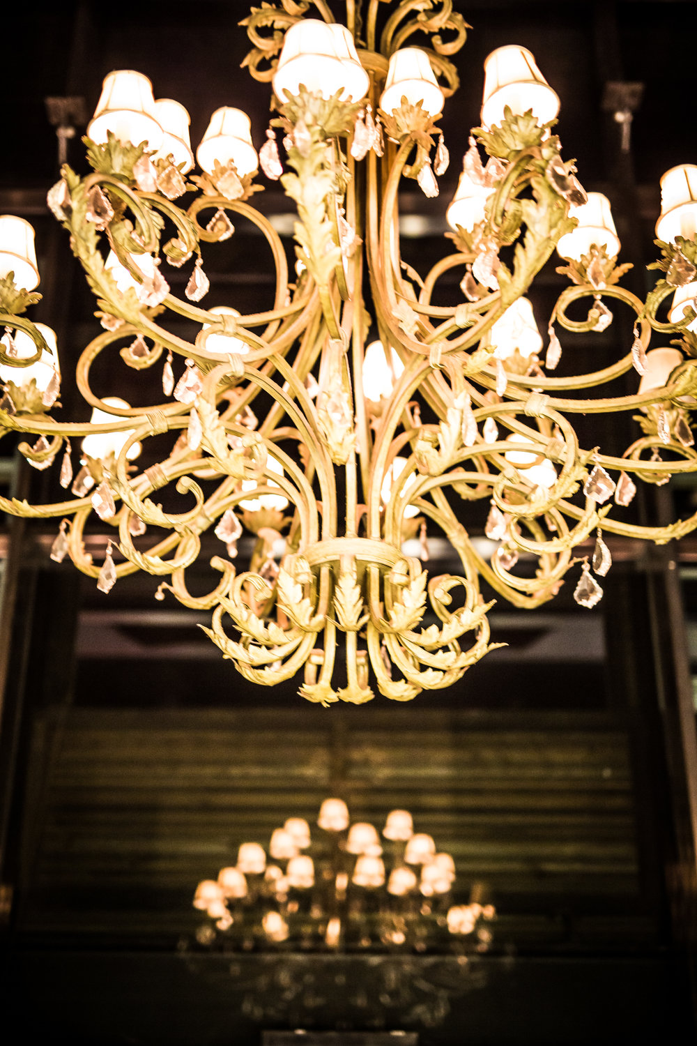 Dinner or Dancing under the chandelier?