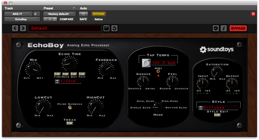 Tape Saturation = Soundtoys Decapitator