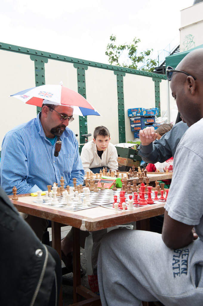 Street chess game at Brick Lane (colour)