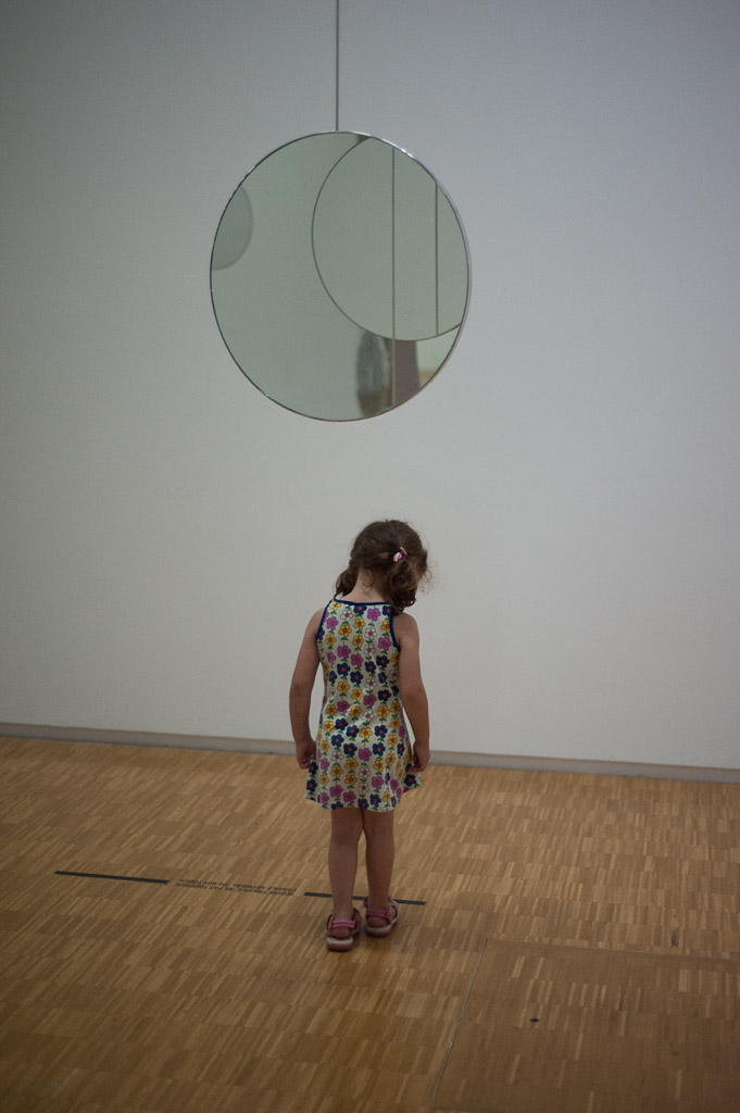 Little girl at Centre Pompidou (colour)