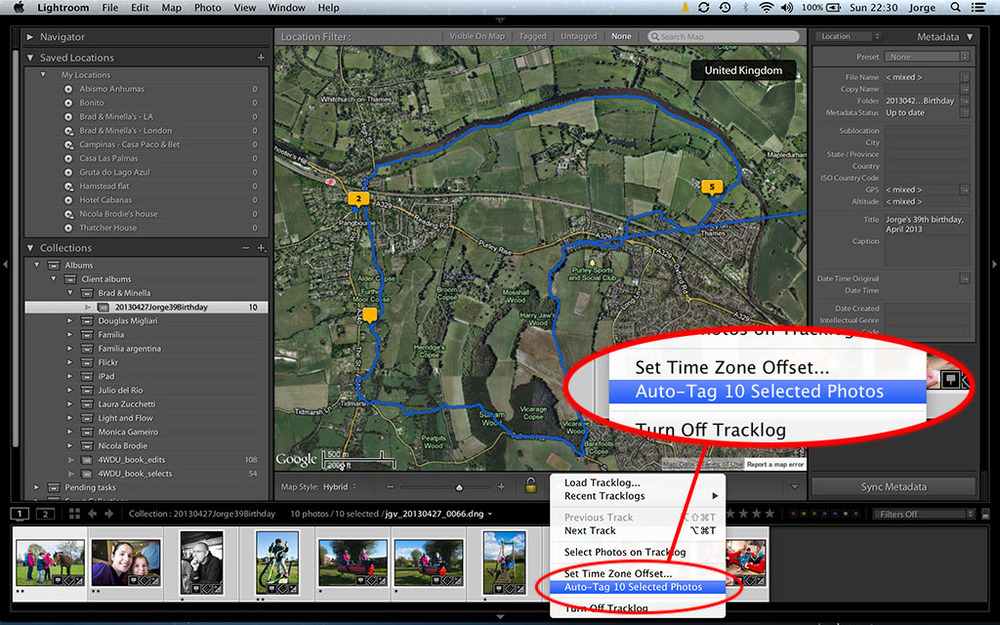 Tag photos in the Map module
