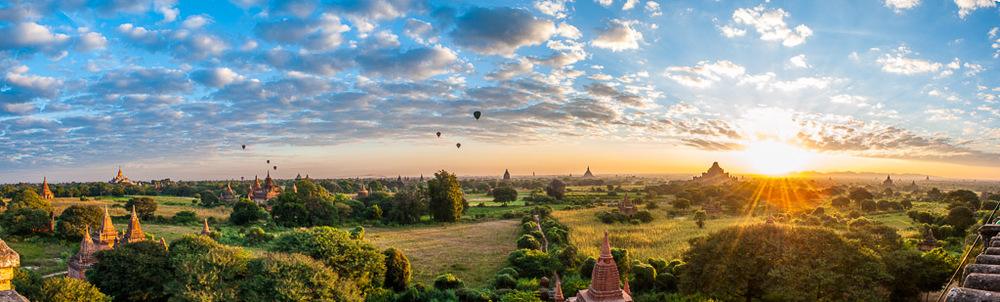 View of the sunrise from Shwe San Daw stupa