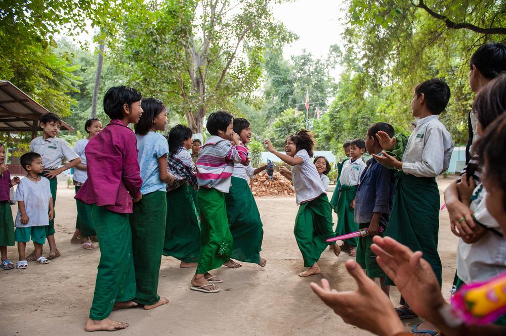 Mahar Gandar Yone monastery school kids