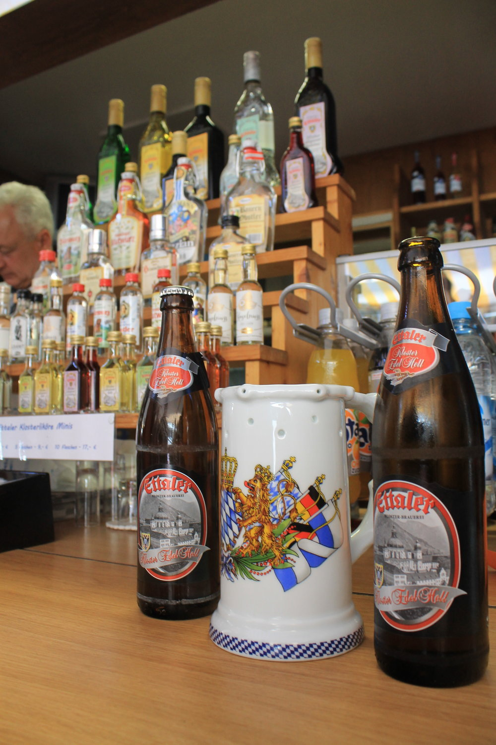 Ettal Monastery beer and schnapps