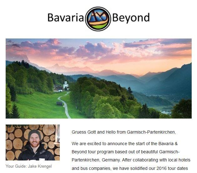 Bavaria & Beyond is Officially in Business! - Announcing the official launch of our tour business and new website - Now accepting reservation for 2016 tours -