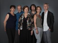 Les livres sélectionnés ont été écrits par (de droite à gauche): Michel Layaz, Silvia Haerri, Thomas Sandoz, Janine Massard, Olivier Sillig, Catherine Lovey.