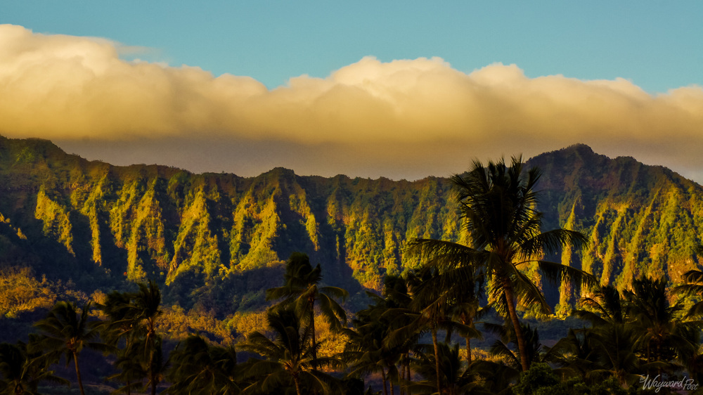 Peaks visible from Kunia Road near Waipahu on the island of Oahu.