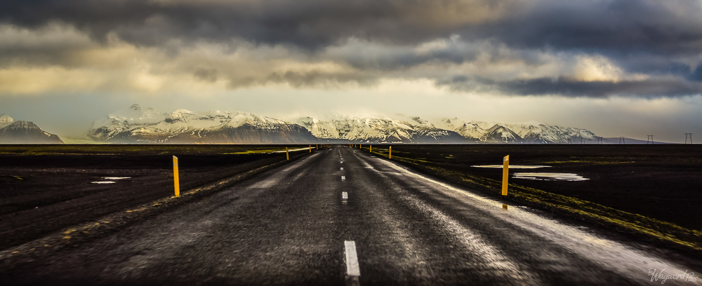 Road, Route 1, Iceland, Mountains, Dark Sky, The Wayward Post