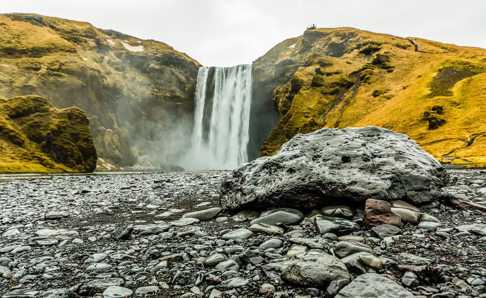 Skógafoss, Waterfall, Iceland, Rocks, The Wayward Post