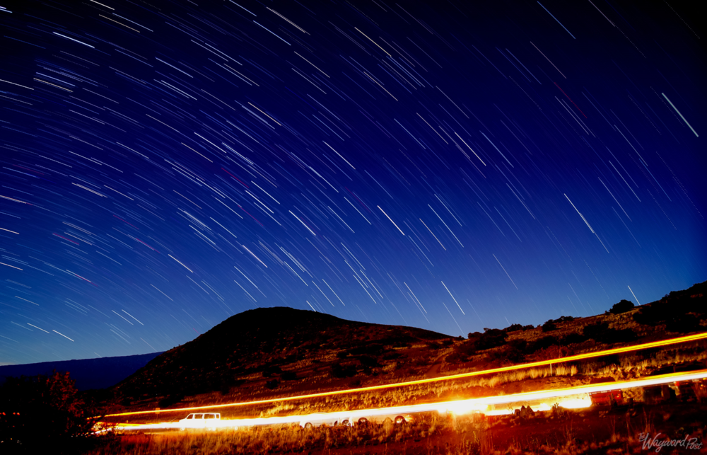 Star Trails on Mauna Kea Hawaii
