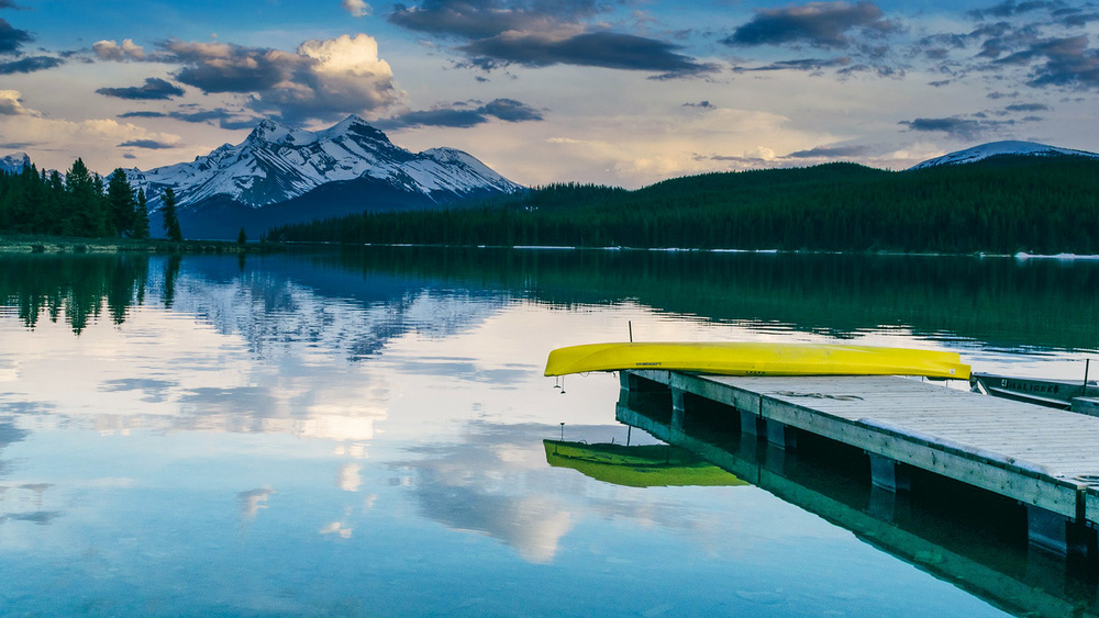 Canada Lake canoe
