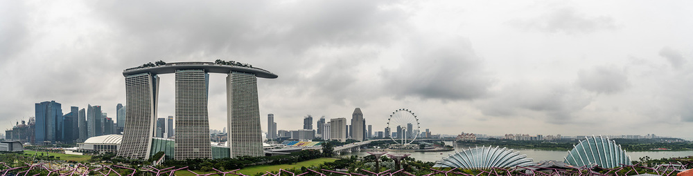 Singapore's Gardens by the Bay and view over the city. Photo by Zygmunt Spray.