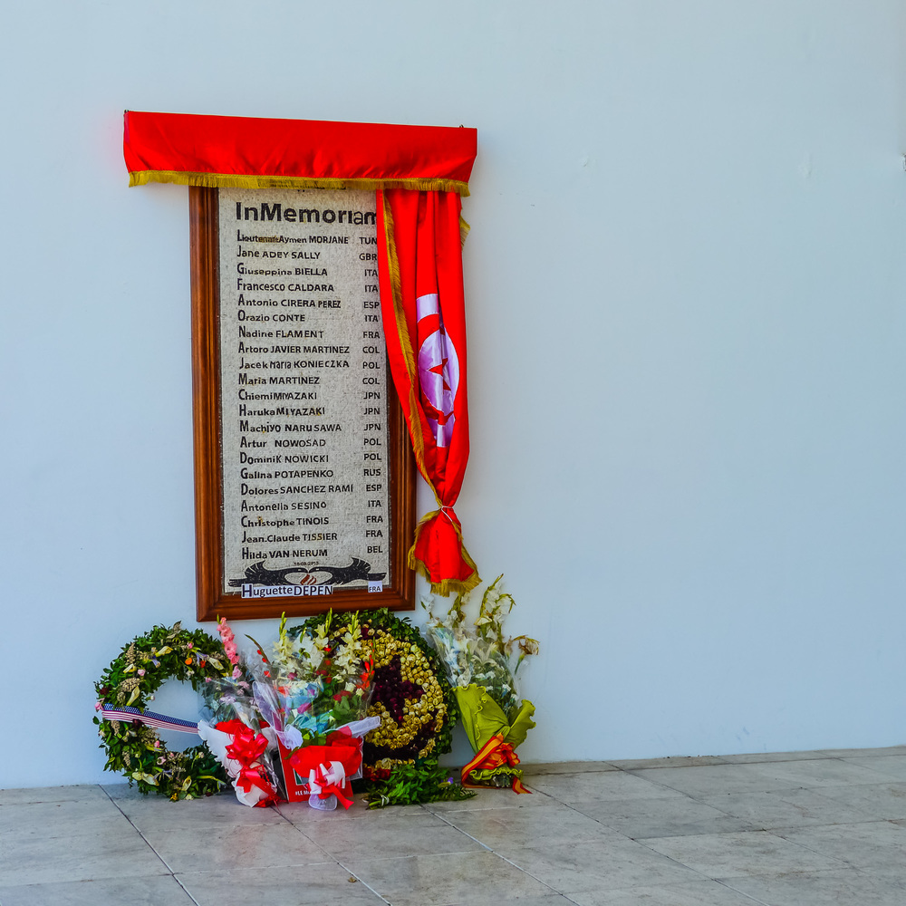The memorial to the 22 victims of the March 18, 2015 attack at the bardo museum in tunisia. Photo by Johanna Read TravelEater.net