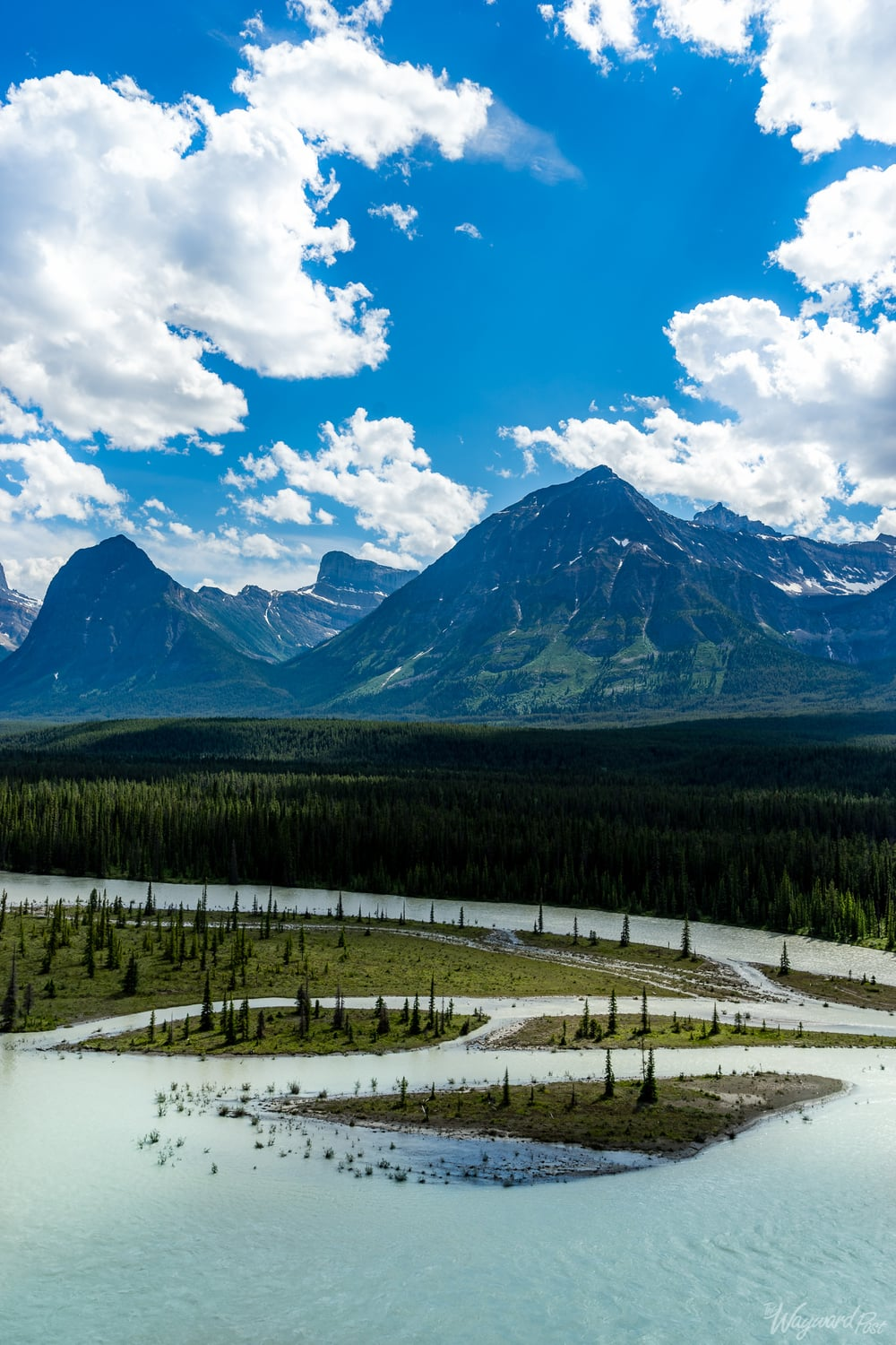 Bow River on Icefield Parkway - The Wayward Post - Photo Story - Jasper National Park, AB Canada