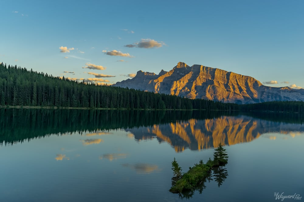 Two Jack Lake Sunset - The Wayward Post - Photo Story - Banff National Park.