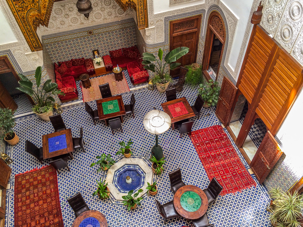 Dar Roumana dining room. Photo by Johanna Read TravelEater.net.