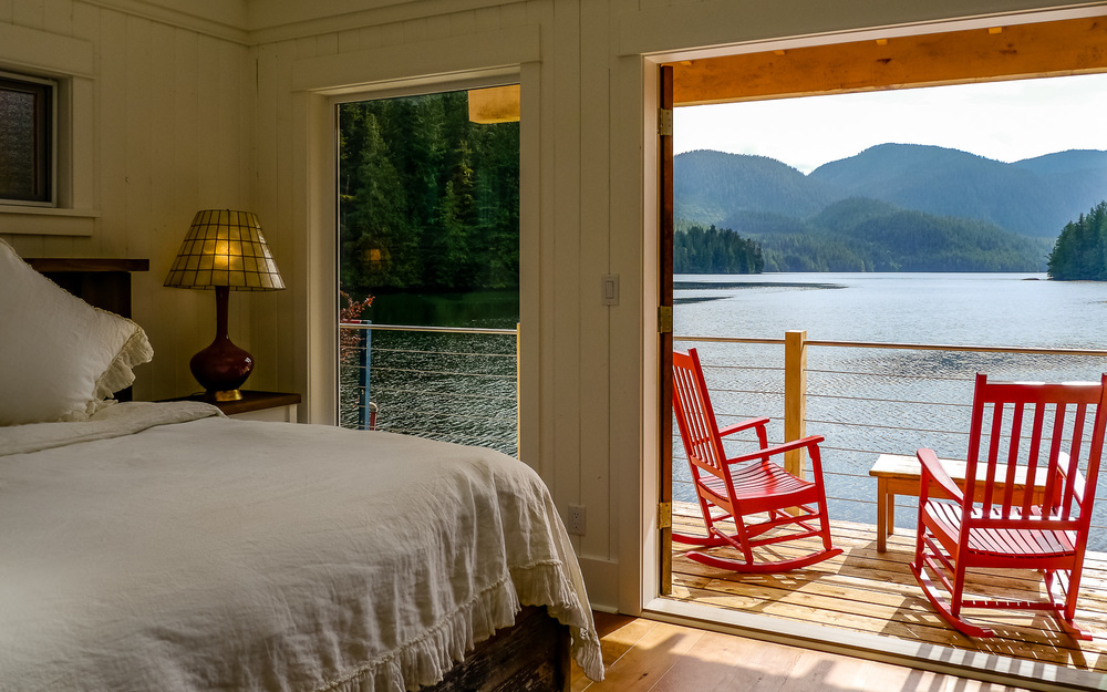 Nimmo Bay bedroom view. Photo by Johanna Read TravelEater.net