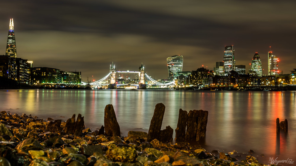 Tower Bridge and Central London Skyline on the River Thames. Photo by Zygmunt Spray.
