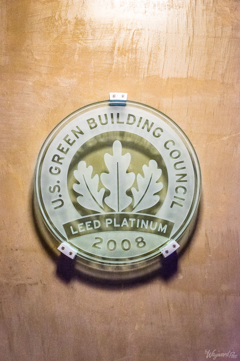 LEED Platinum Award from USGBC. Proximity Hotel, Greensboro - The Wayward Post. Photo by Zygmunt Spray.