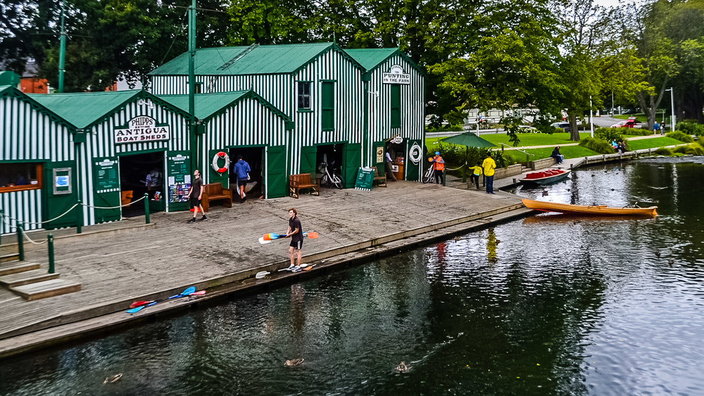 Antigua Boat Sheds on the Avon.
