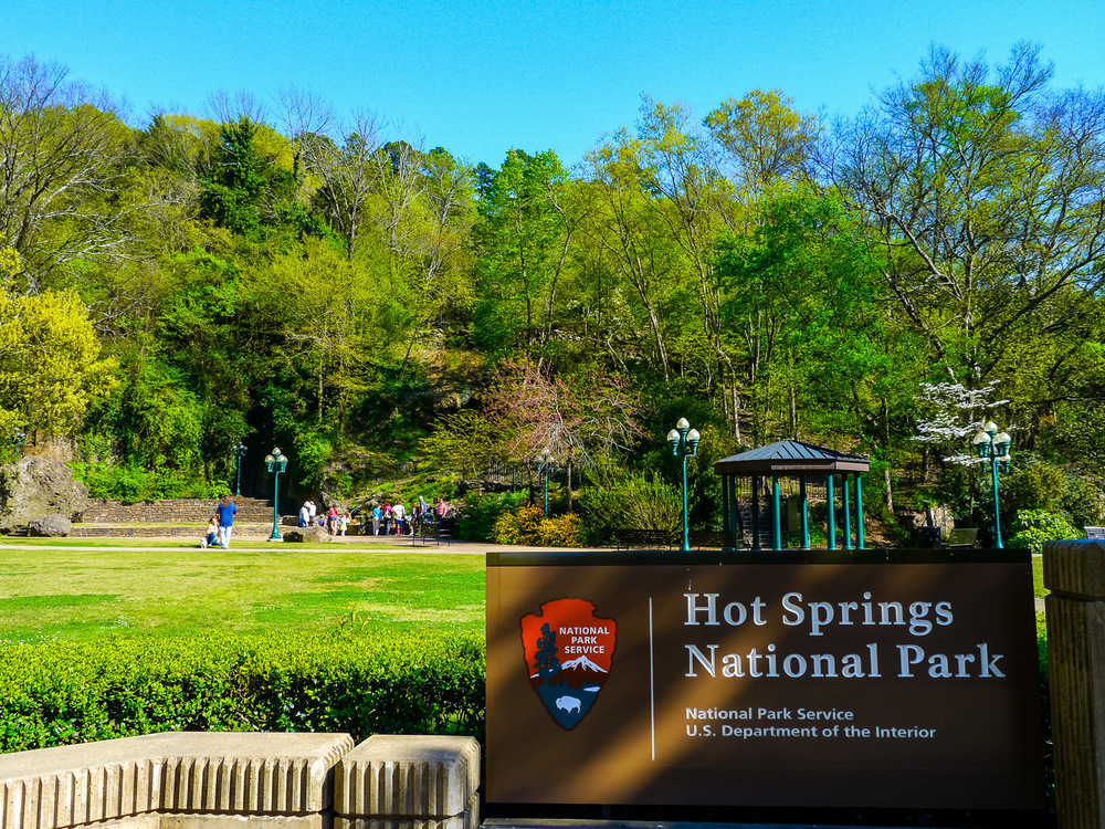 Entrance, Hot Springs National Park. Photo by Johanna Read TravelEater.net - Wayward Weekend - 7.jpg