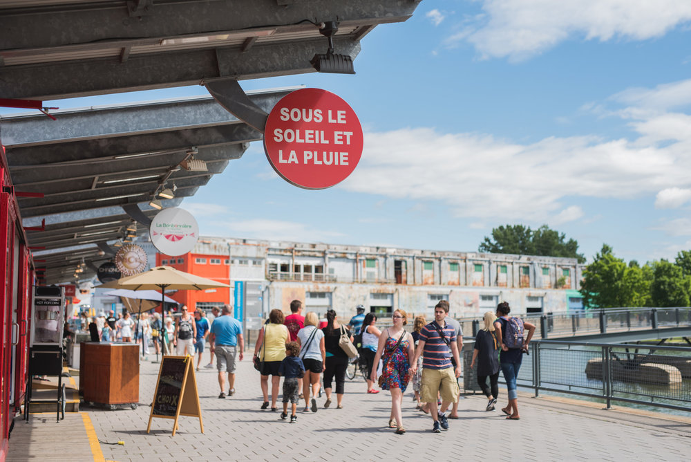 Take a summer stroll in the Old Port of Montreal. Photo Courtesy of Tourism Montreal - A Wayward Weekend in Montréal