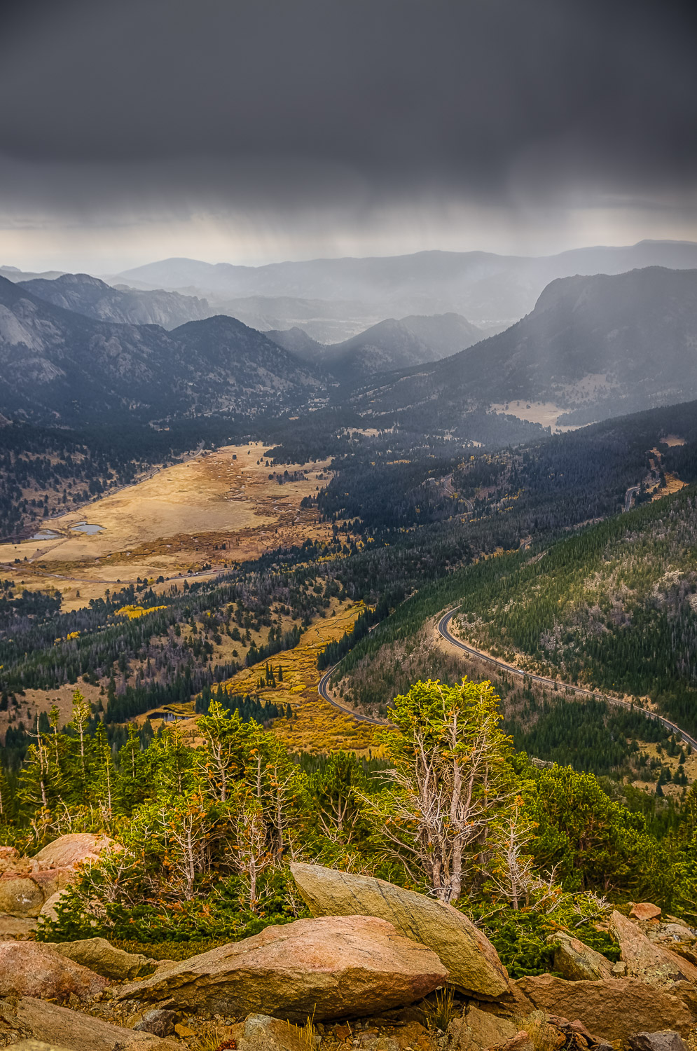 Stormy vista in Rocky Mountain National Park