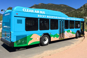 Rock Mountain National Park Acheive Green Sustainability Hybrid Bus