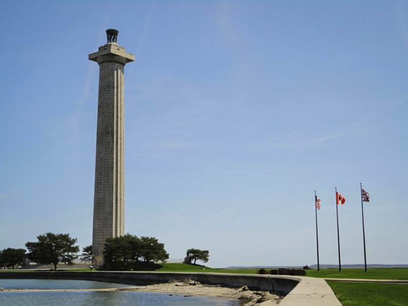 The view of Perry's Victory and International Peace Memorial. NPS Photo.
