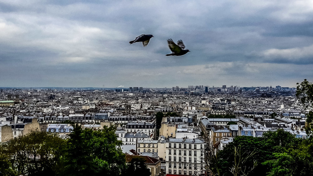 The view from Sacre Coeur Photo Copyright Ruby Boukabou