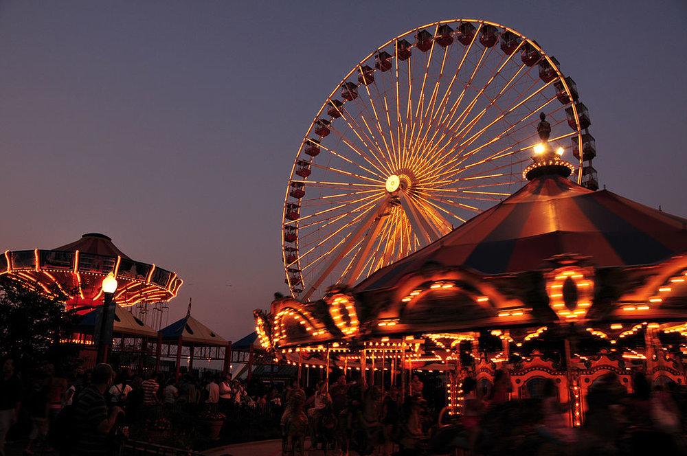 Navy Pier and Centennial Wheel Chicago. Photo Serge Melki CC BY SA 2.0