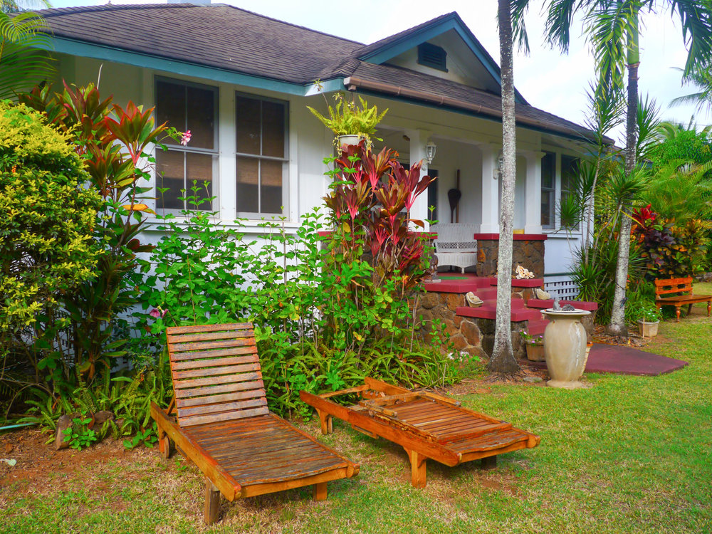 Outside Ohana House. Fern Grotto Inn. Photo by Johanna Read TravelEater.net