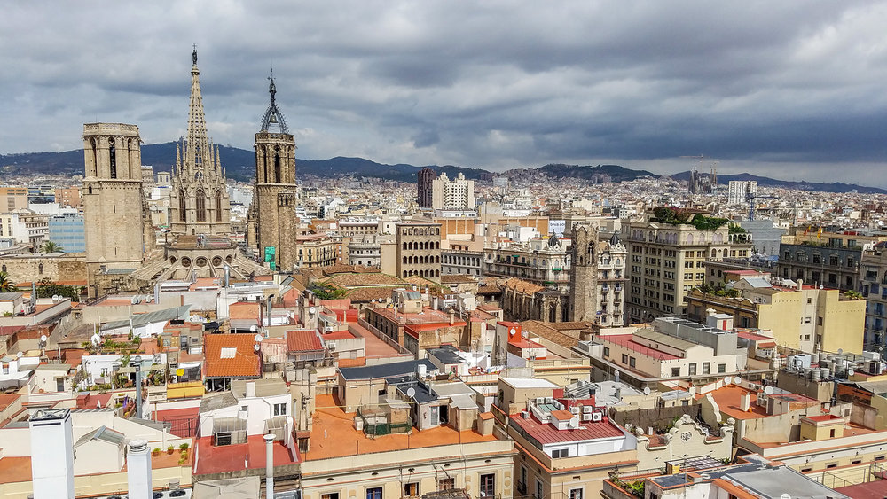 4. View of Barcelona city from rooftop of Just i Pastor - Photo by Shelley Treadaway