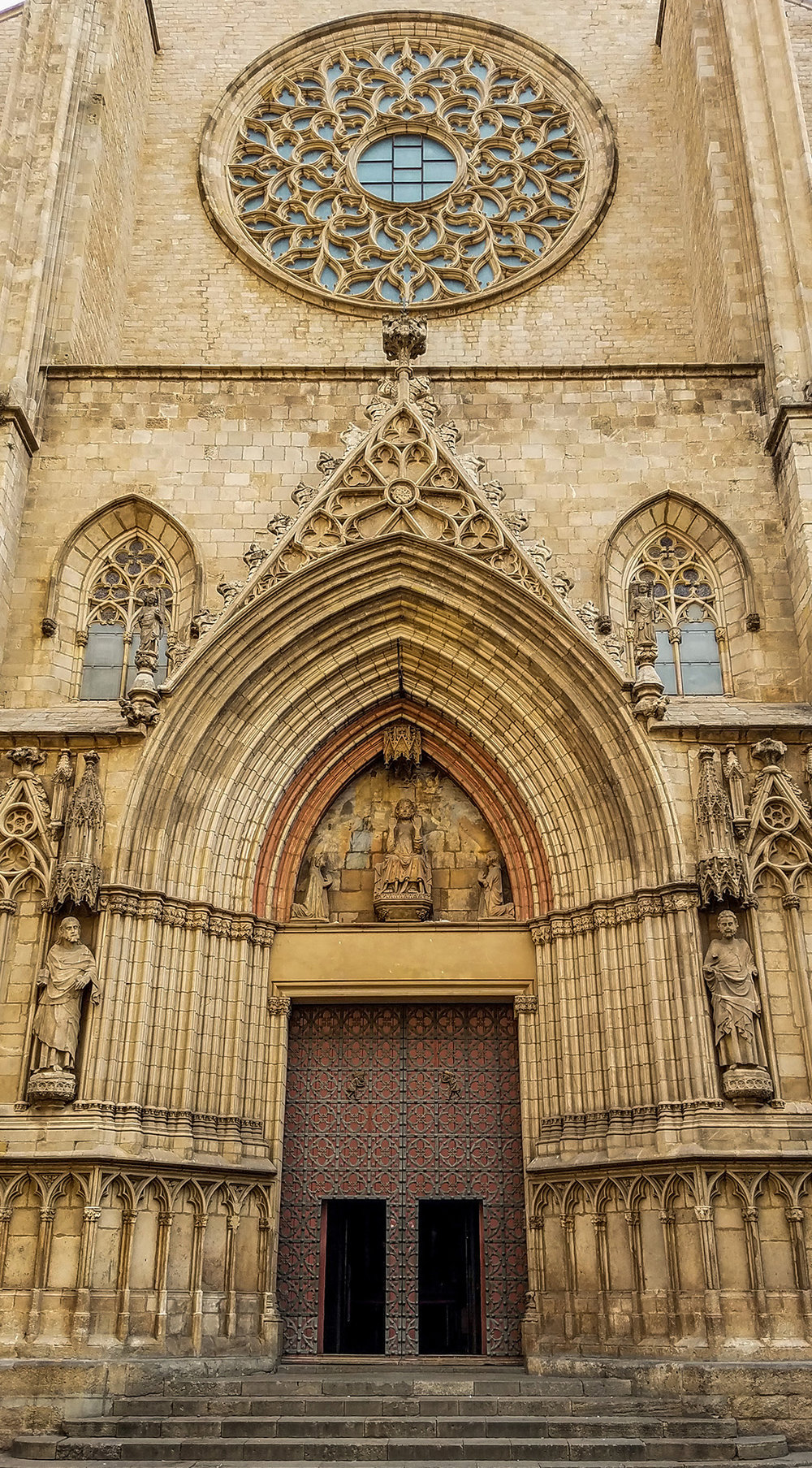 Entrance of the Santa Maria Del Mar - Photo by Shelley Treadaway