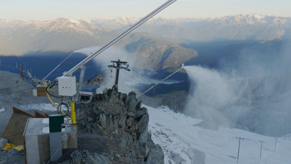 4 Whistler Blackcomb's snowmaking pilot project to try to curb the recession of the Horstman Glacier