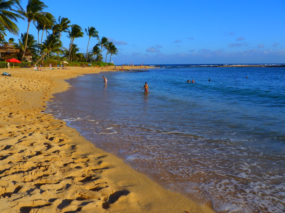 Poipu Beach on Kauai's south shore. Photo by Johanna Read TravelEater.net.JPG