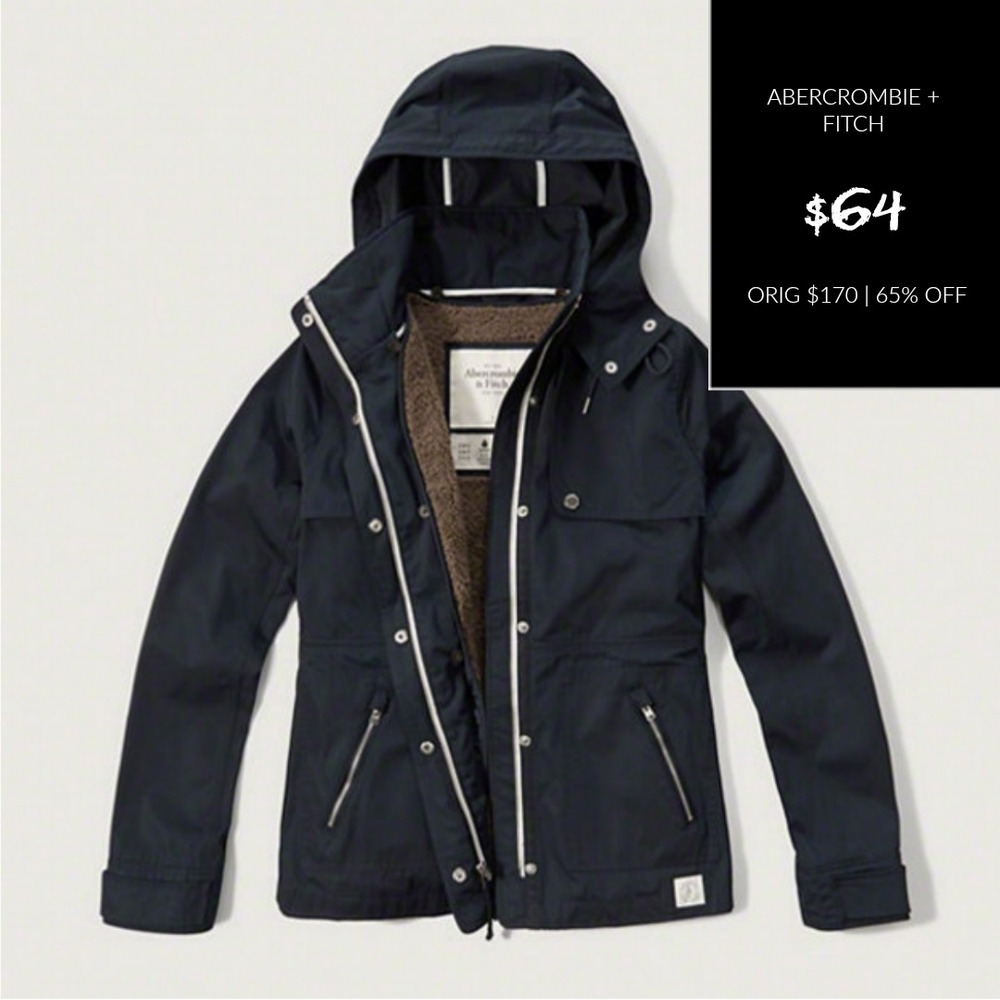 ABERCROMBIE + FITCH A&F 2-IN-1 NYLON JACKET
