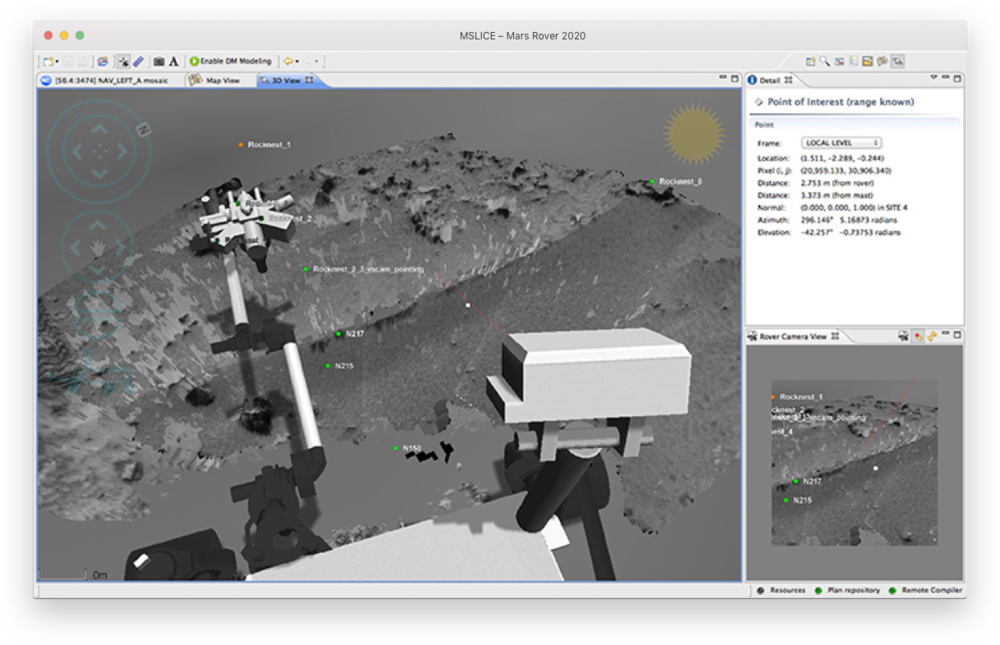 The team's current 2D tools depict an incomplete map of the Mars topography, inhibiting tactical clarity and obscuring the route planning process. These tools can stitch together 2D photography to reconstruct 3D terrains, but they are still accessed through 2D interfaces that add a layer of visual abstraction and complicate the user's ability to perceive complex spatial relationships.