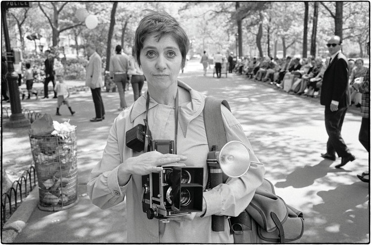 Diane Arbus in Central Park, by Tod Papageorge, 1967