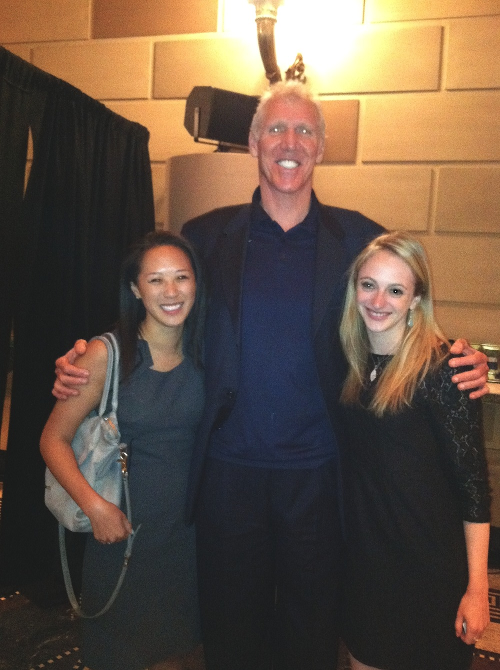 Jill and me with our pal Bill Walton...