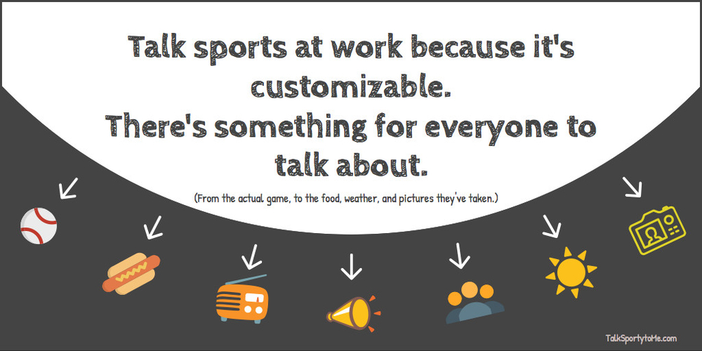 Sports are customizable