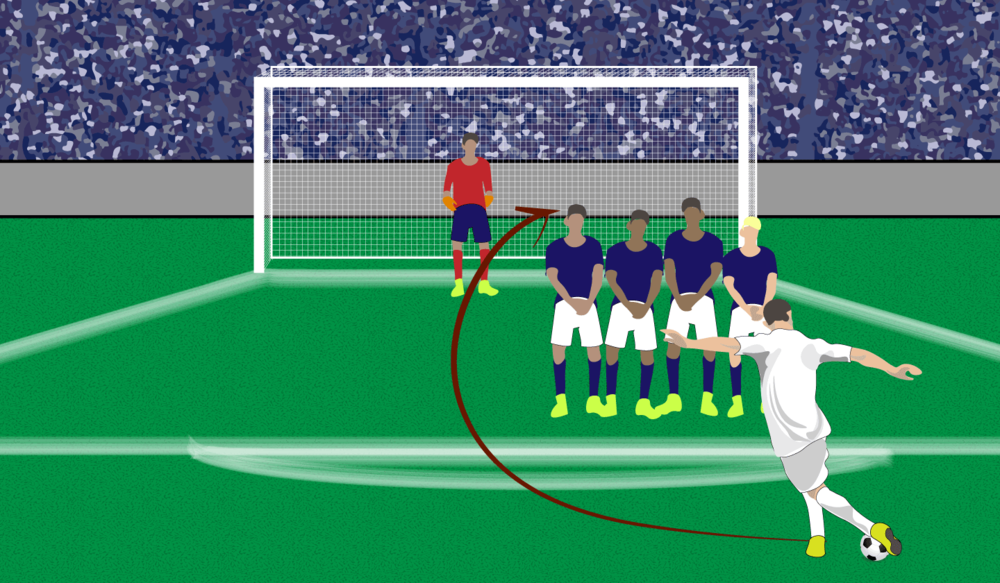 DIRECT FREE KICK.    Click image to enlarge.