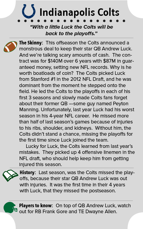 INDIANAPOLIS COLTS TEAM SUMMARY
